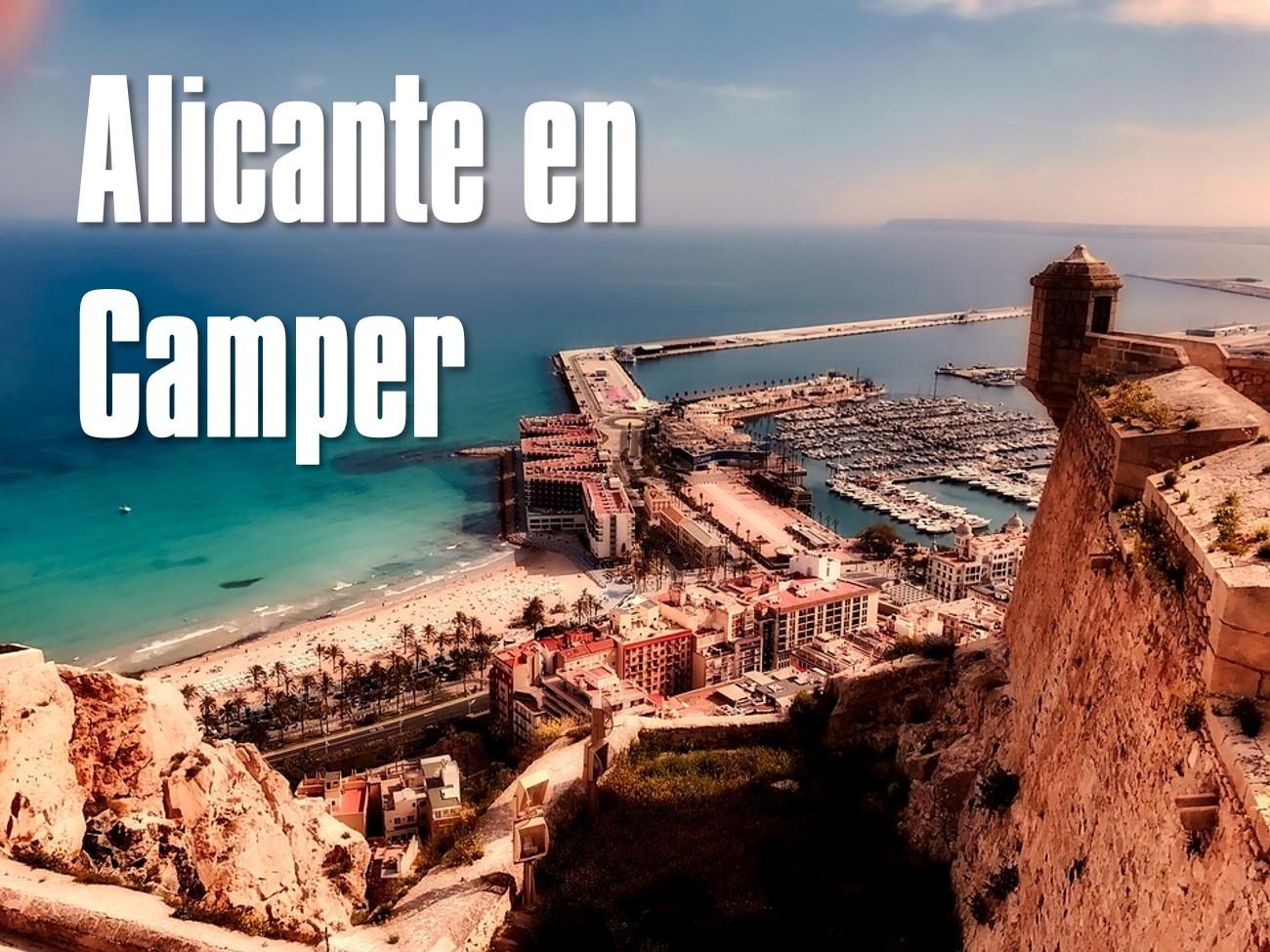 ruta en autocaravana o camper por Alicante