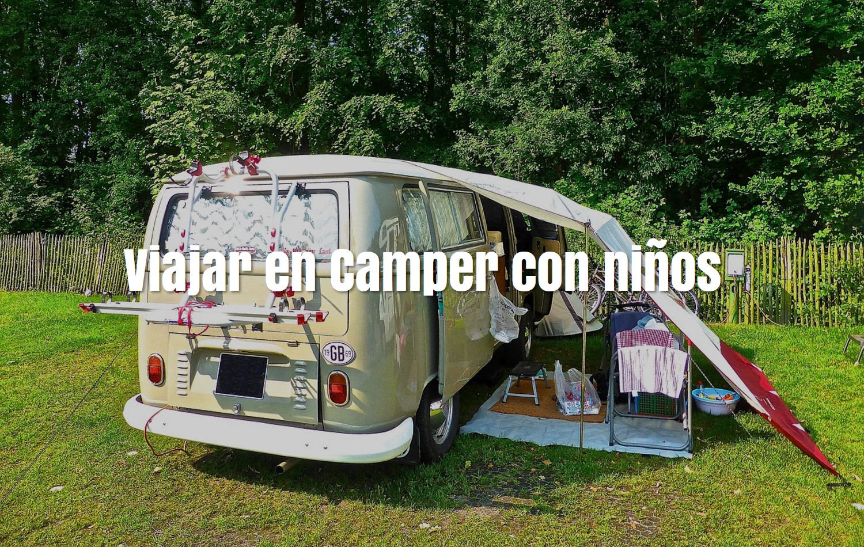 Viajar en camper con niños